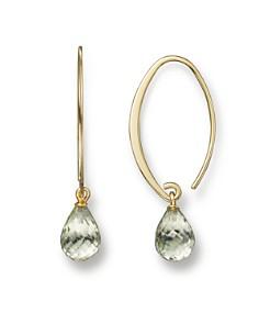 14K Yellow Gold Simple Sweep Earrings with Prasiolite - 100% Exclusive - Bloomingdale's_0