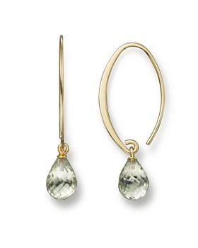 Bloomingdale S 14k Yellow Gold Simple Sweep Earrings With Prasiolite 100 Exclusive