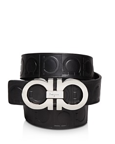 Salvatore Ferragamo Gamma Embossed Leather Double Gancini Belt - Bloomingdale's_0