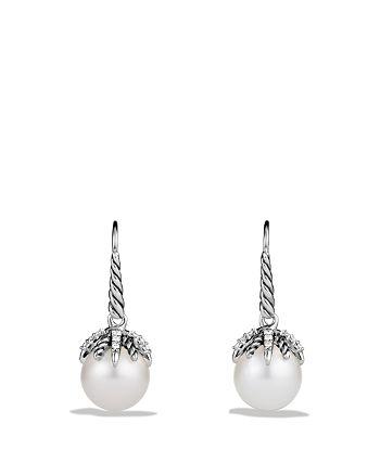 David Yurman - Starburst Earrings with Pearls & Diamonds