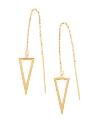 Triangle Threader Earrings by Rebecca Minkoff