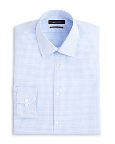 The Men's Store at Bloomingdale's - Textured Micro Grid Check Dress Shirt - Regular Fit - 100% Exclusive