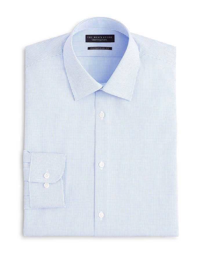 35ebd70a25 The Men s Store at Bloomingdale s - Textured Micro Grid Check Dress Shirt -  Regular Fit nbsp