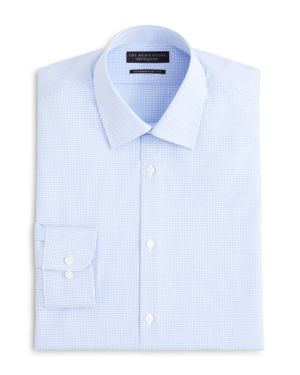 The Men's Store at Bloomingdale's Textured Micro Grid Check Dress Shirt - Regular Fit - 100% Exclusive thumbnail