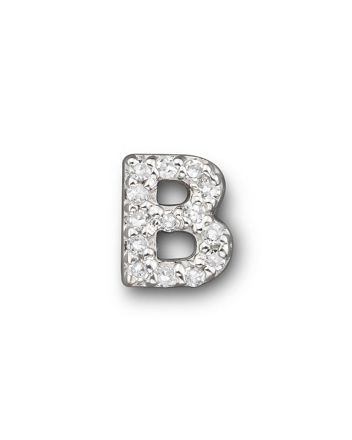 Bloomingdale's - KC Designs Diamond Initial Stud Earring in 14K White Gold