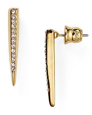 Abs by Allen Schwartz Modern Savage Spike Bar Earrings