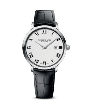 RAYMOND WEIL 5488-Stc-00300 Toccata Stainless Steel And Leather Watch