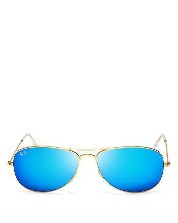 Ray-Ban - Unisex New Aviator Mirrored Sunglasses, 59mm