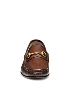 Gucci - Leather Horsebit Loafers