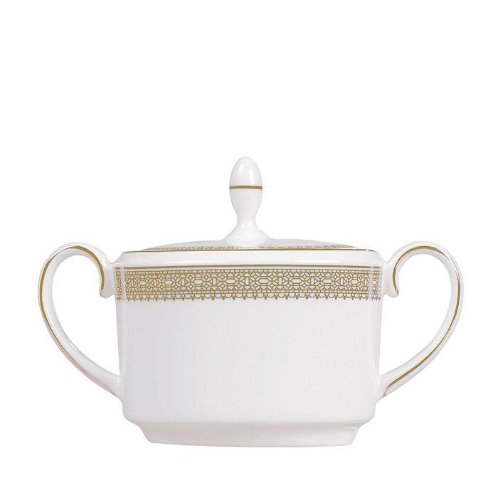 Wedgwood - Vera Lace Gold Sugar Bowl