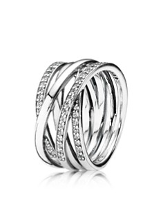 PANDORA Sterling Silver & Cubic Zirconia Entwined Ring - Bloomingdale's_0