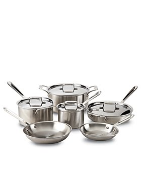 All-Clad - d5 Stainless Brushed 10-Piece Cookware Set