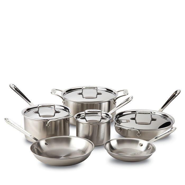 All-Clad - D5 Stainless Brushed 5-Ply Bonded 10-Piece Cookware Set
