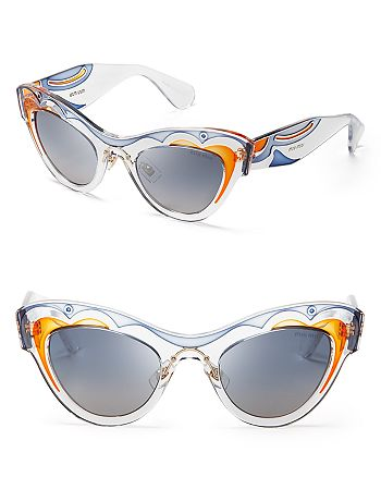Miu Miu - Women's Transparent Cat Eye Sunglasses