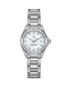 TAG Heuer Aquaracer 300M Quartz Stainless Steel Watch with Diamonds, 27mm - Bloomingdale's_0
