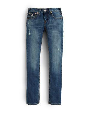 True Religion Boys' Geno Slim Fit Classic Jeans - Big Kid