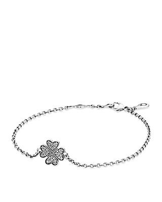 Pandora Bracelet Sterling Silver Cubic Zirconia Symbol Of Lucky