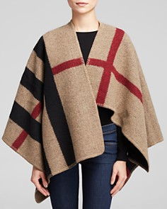 Burberry Mega Check Cape - Bloomingdale's_0