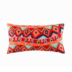 Josie Hollywood Boho Oblong Pillow, 12 x 22