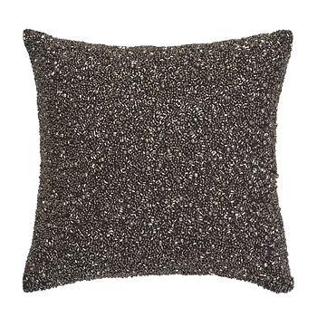 Donna Karan Silver Multi Bead Decorative Pillow 40 X 40 Gorgeous 10x10 Decorative Pillows