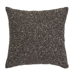 Donna Karan Silver Multi Bead Decorative Pillow, 10 x 10