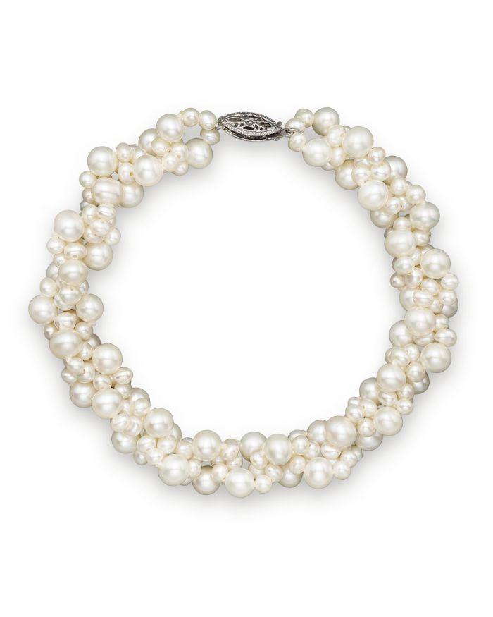 Bloomingdale's Cultured Freshwater Pearl Woven Bracelet in 14K White Gold, 3mm    Bloomingdale's