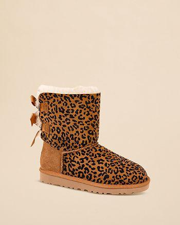 5f02faa0cbe UGG® Australia Girls' Leopard Bailey Bow Boots - Toddler ...