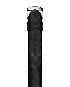 Philip Stein - Black Metallic Leather Watch Strap, 18mm