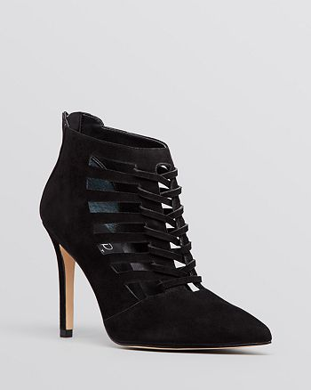 IVANKA TRUMP - Pointed Toe Booties - Sweet High-Heel