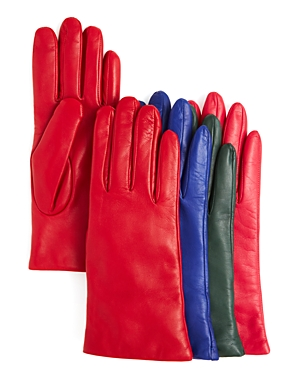 Bloomingdale's 2-Button-Length Cashmere Lined Leather Gloves - 100% Exclusive at Bloomingdale's