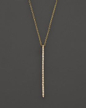 KC Designs - Diamond Stick Pendant Necklace in 14K Yellow Gold, .10 ct. t.w.