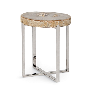 Palecek Sliced Petrified Wood Small Accent Table