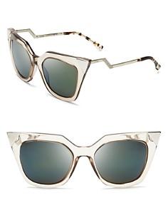 Fendi Women's Mirrored Geometric Sunglasses, 52mm - Bloomingdale's_0