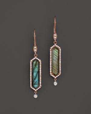 Meira T 14K Rose Gold Labradorite Drop Earrings