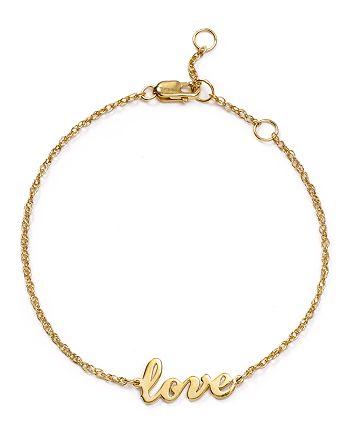 Jennifer Zeuner Addison Cursive Love Bracelet