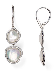 Nadri Sterling Silver & Mother of Pearl Double Drop Earrings - Bloomingdale's_0