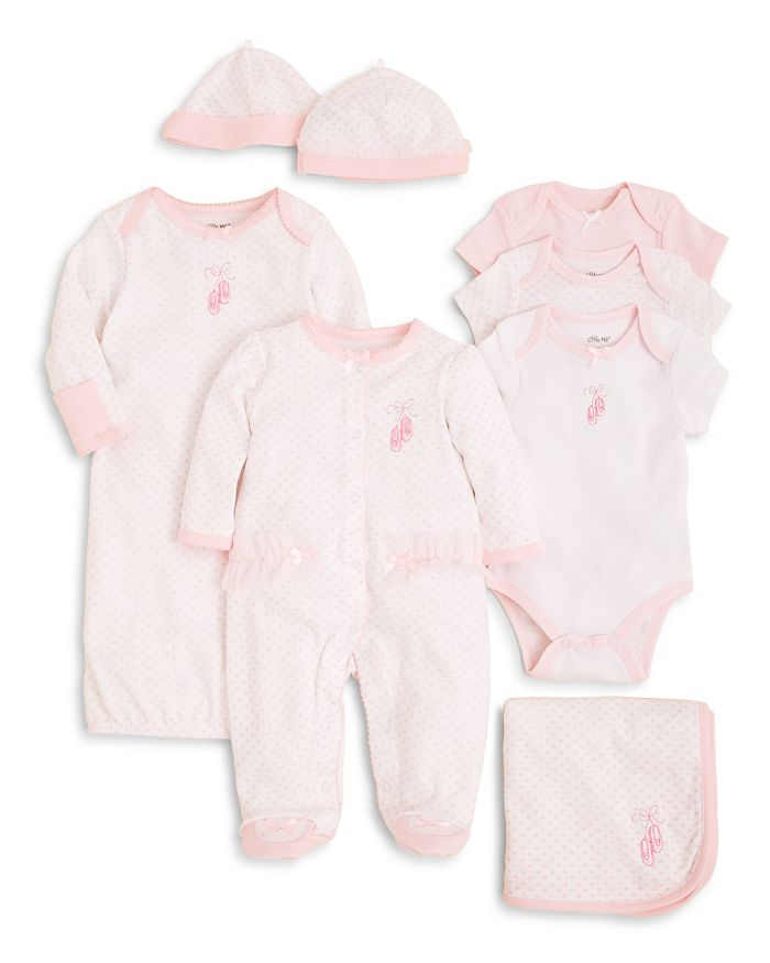 Little Me - Girls' Prima Ballerina Bodysuit 3 Pack, Blanket & More - Baby