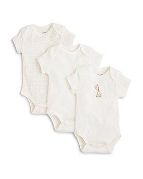 Little Me - Unisex Giraffe Bodysuit, 3 Pack - Baby
