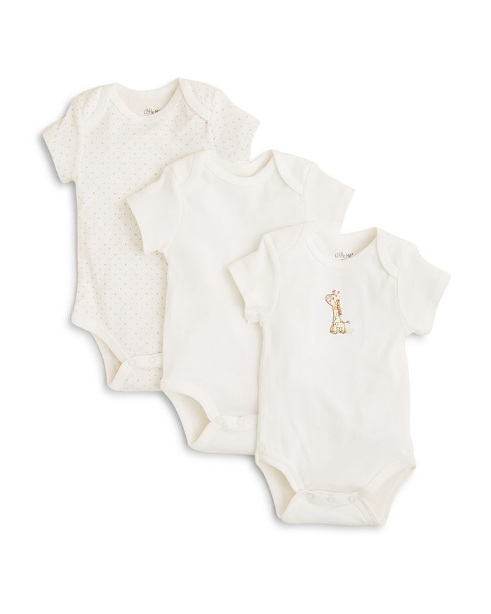Little Me - Unisex Giraffe Bodysuit, 3 Pack - Baby