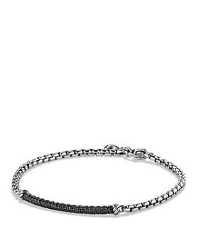 David Yurman - Petite Pavé Bar Metro Bracelet with Black Diamonds