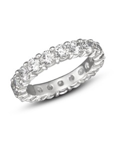 Bloomingdale's - Certified Diamond Eternity Band in 18K White Gold, 3.0 ct. t.w. - 100% Exclusive