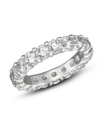 Bloomingdale's - Certified Diamond Eternity Band in 18K White Gold, 3.0 ct. t.w.- 100% Exclusive