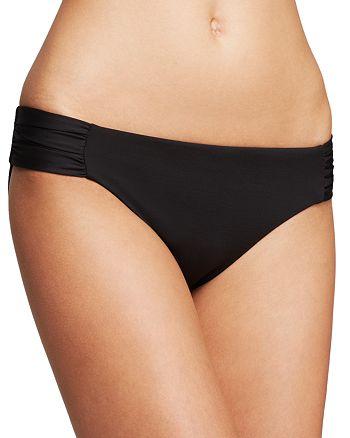 BECCA® by Rebecca Virtue - Color Code Shirred Tab Bikini Borrom