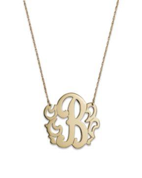 Jane basch 14k yellow gold swirly initial pendant necklace 16 jane basch 14k yellow gold swirly initial pendant necklace aloadofball Gallery