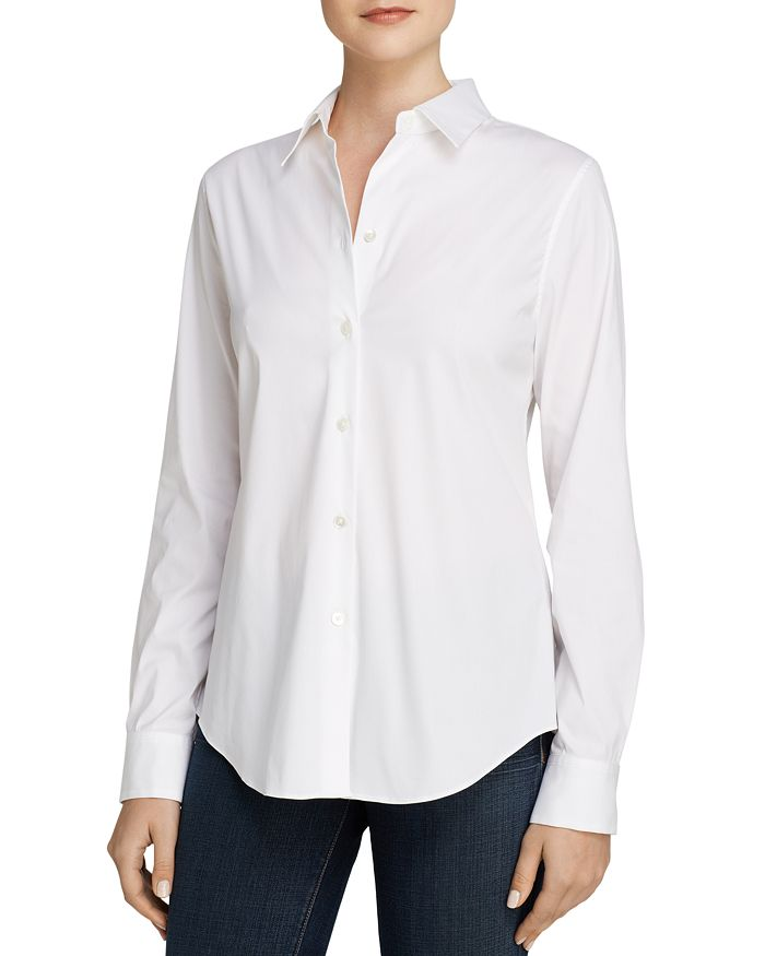 60492a45bc6 Theory Tenia Luxe Stretch Cotton Top | Bloomingdale's