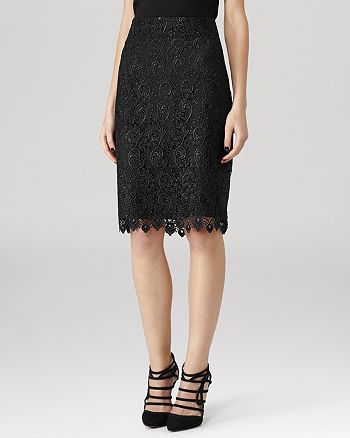 REISS - Skirt - Orta Lace Pencil