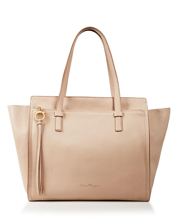 Top Handle Handbag On Sale, Leather Brown, Leather, 2017, one size Salvatore Ferragamo