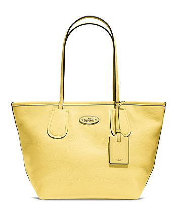 COACH - Taxi Zip Top Tote in Leather