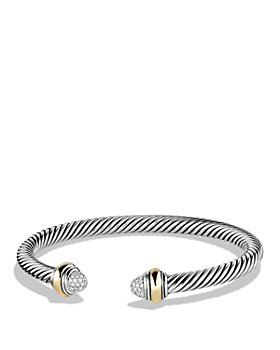 David Yurman - Cable Classics Bracelet with Diamonds and 14K Gold, 5mm