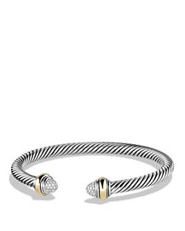 David Yurman - Cable Classics Bracelet with Diamonds and Gold